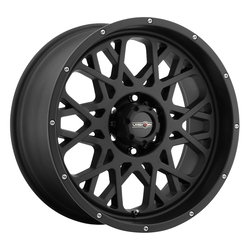 Vision Wheels 412 Rocker - Satin Black Rim - 24x12