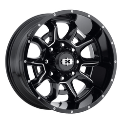 Vision Wheels Bomb - Gloss Black Milled Spoke Rim - 20x12