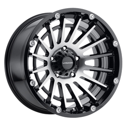 Vision Creep - Gloss Black Machined Face - 20x9