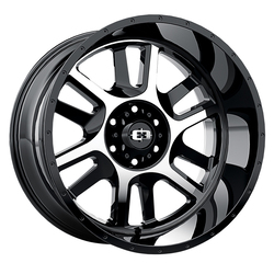 Vision Split - Gloss Black Machined Face - 20x9