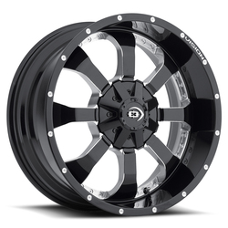 Vision Wheels 420 Locker - Gloss Black Milled Spoke