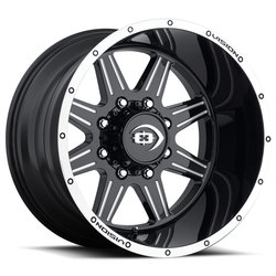 Vision 421 Cannibal - Gloss Black Machined Lip Milled Spoke - 20x9
