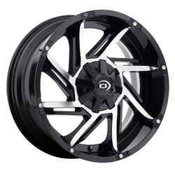 Vision Prowler - Gloss Black Machined Face - 20x9