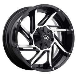 Vision Wheels 422 Prowler - Gloss Black Machined Face Rim - 18x9