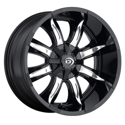 Vision Manic - Gloss Black Machined Face - 20x9