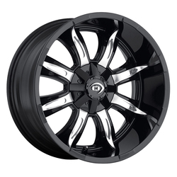 Vision Wheels 423 Manic - Gloss Black Machined Face Rim - 18x9