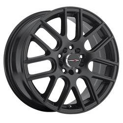 Vision Wheels 426 Cross - Matte Black Rim - 17x7