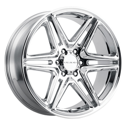 Vision Wheels 476 Wedge - Chrome Rim - 24x9.5