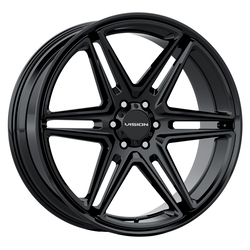 Vision Wheels 476 Wedge - Gloss Black Rim - 22x9.5