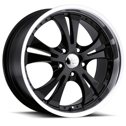 Vision Wheels 539 Shockwave - Gloss Black Machined Lip Rim - 17x7