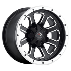 Vision ATV Wheels 548 Commander - Matte Black Machined Face - 14x7