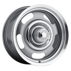 Vision Wheels 55 Aluminum Rally - Gunmetal Machined Lip - 20x9.5