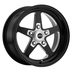 Vision Wheels Sport Star Ii - Gloss Black with Milled Center Rim - 15x7