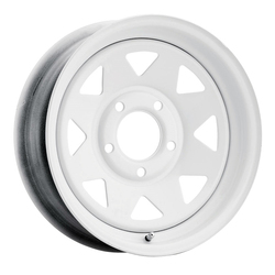 Vision Wheels 70 8 Spoke - Painted White - 14x5.5