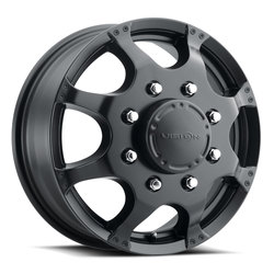 Vision Wheels 715 Crazy Eightz Duallie - Matte Black Rim
