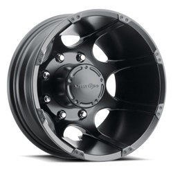 Vision Wheels 715 Crazy Eightz Duallie - Matte Black Rim - 16x6