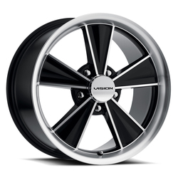 Vision Wheels Dazzler - Gloss Black Mirror Machined Face Rim - 15x7