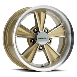 Vision Wheels Dazzler - Gold Mirror Machined Face