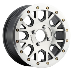 Vision ATV Wheels GV8 Beadlock Invader - As-Cast Machined Face Machined Ring/Lip - 15x6