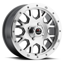 Vision ATV Wheels GV8 Invader - Gunmetal Machined Face - 14x7