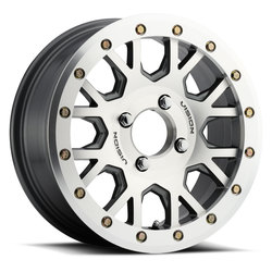 Vision ATV Wheels GV8 Beadlock Invader - Gunmetal Machined Face Rim