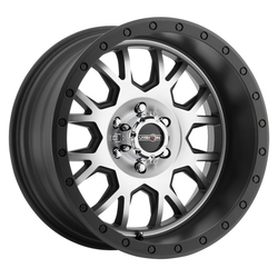 Vision ATV GV8 Invader - Matte Black Machined Face - 20x9