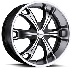 Milanni Wheels 452 Stellar - Gloss Black Machined Face & Lip Rim