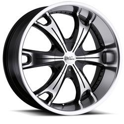 Milanni Wheels 452 Stellar - Gloss Black Machined Face & Lip