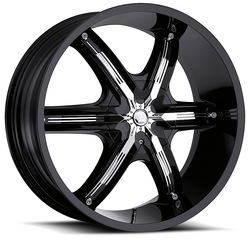 Milanni Wheels 460 Bel Air 6 - Gloss Black Rim - 24x9.5