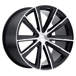 Milanni Wheels Splinter - Gloss Black Machined Face Rim - 22x10.5