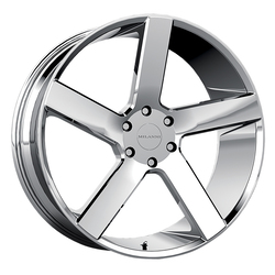 Milanni Wheels Switchback - Chrome Rim - 22x9.5
