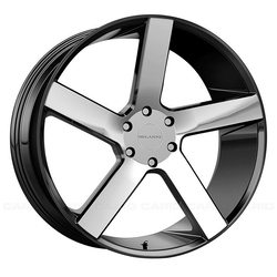 Milanni Wheels Switchback - Gloss Black Machined Face Rim - 22x9.5