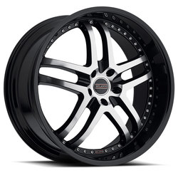 Milanni Wheels 9012 Kapri - Gloss Black Machined Face Rim - 22x10.5