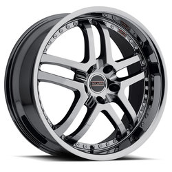 Milanni Wheels 9012 Kapri - Phantom Chrome Rim - 22x10.5