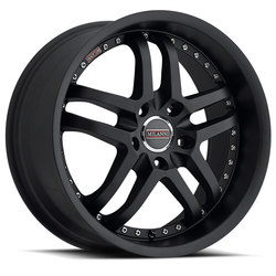Milanni Wheels 9012 Kapri - Satin Black Rim - 22x10.5