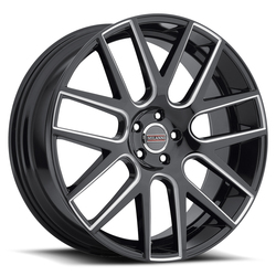 Milanni Wheels 9022 Virtue - Gloss Black Milled Spoke Rim