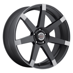 Milanni Wheels 9042 Sultan - Matte Black w/Anthracite Spoke Ends Rim - 22x9.5