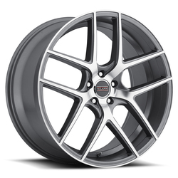 Milanni Wheels 9052 Tycoon - Graphite Mirror Machined Face Rim - 22x10.5