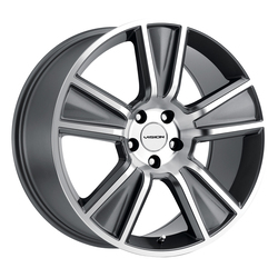Vision Wheels Stunner - Anthracite Machined Face - 20x11