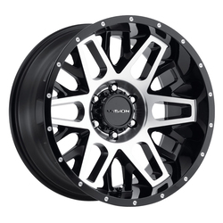 Vision Wheels Shadow - Gloss Black Machined Face - 22x12