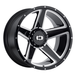 Vision Wheels 390 Empire - Gloss Black Milled Spoke Rim - 18x9