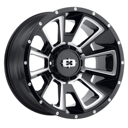Vision Wheels Rebel - Gloss Black Milled Spoke Rim - 20x12