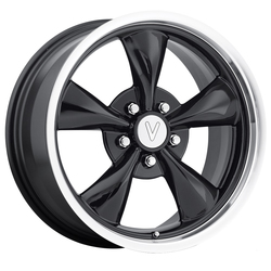 Replica Wheels Mustang Bullet - Gloss Black Machined Lip