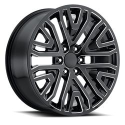 Replica by Voxx Wheels SEV - Gloss Black Milled Rim
