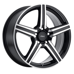 Voxx Wheels Como - Gloss Black Mach Face Rim - 18x8