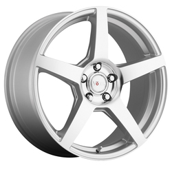 Voxx Wheels MGA - Silver Mirror Machined Face Rim - 16x7