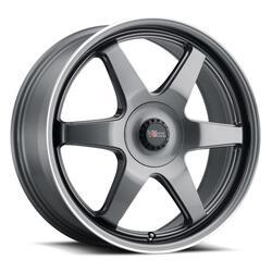 Voxx Wheels Riva - Gun Metal Mach Flange Rim - 17x7.5