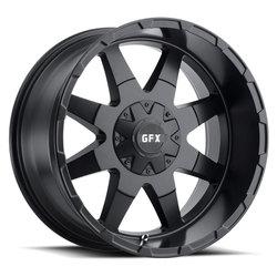 G-FX Wheels TR-12 - Matte Black Rim - 22x11.5