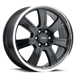 Voxx Wheels Turin - Gloss Black Mirror Machined Lip Rim - 17x8.5