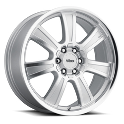 Voxx Wheels Turin - Silver Mirror Machined Face and Lip Rim - 17x8.5